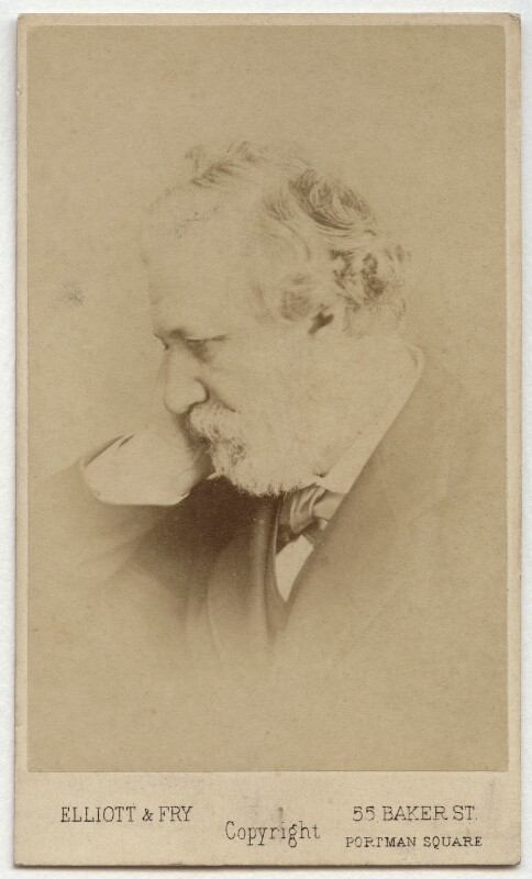 Robert Browning, by Elliott & Fry, 1860s - NPG x4824 - © National Portrait Gallery, London
