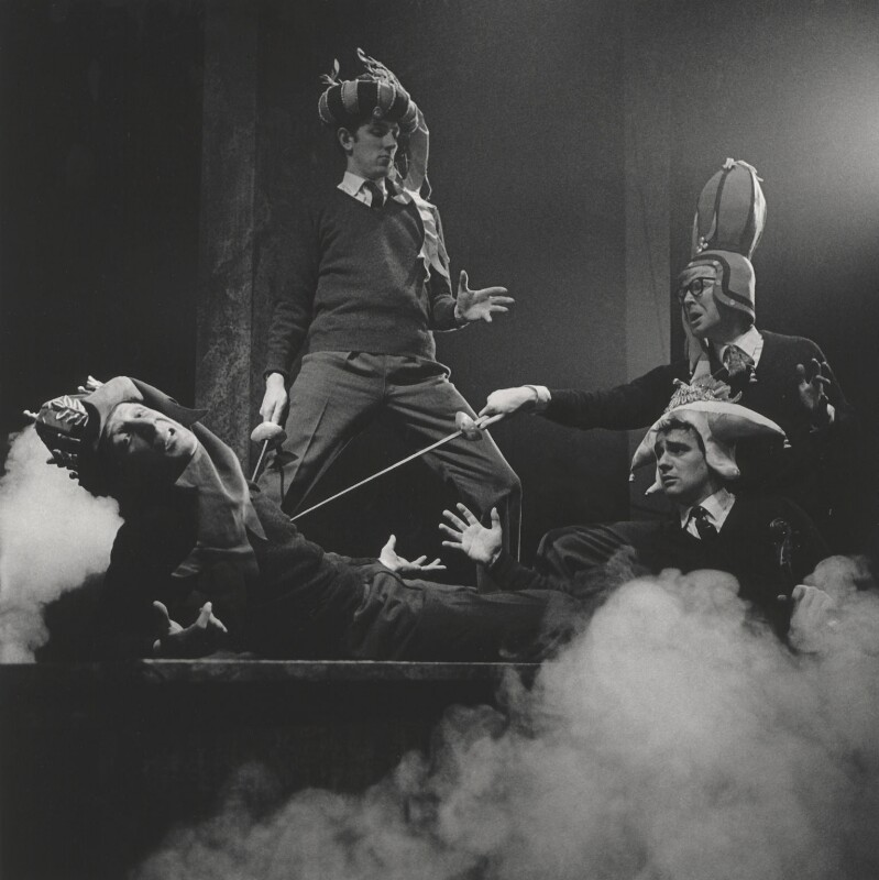 Beyond the Fringe (Jonathan Miller; Peter Edward Cook; Dudley Moore; Alan Bennett), by Lewis Morley, 1961 - NPG x38939 - © Lewis Morley Archive / National Portrait Gallery, London