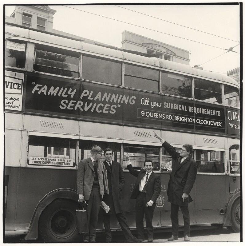 Beyond the Fringe (Alan Bennett; Peter Edward Cook; Dudley Moore; Jonathan Miller), by Lewis Morley, 1961 - NPG x38938 - © Lewis Morley Archive