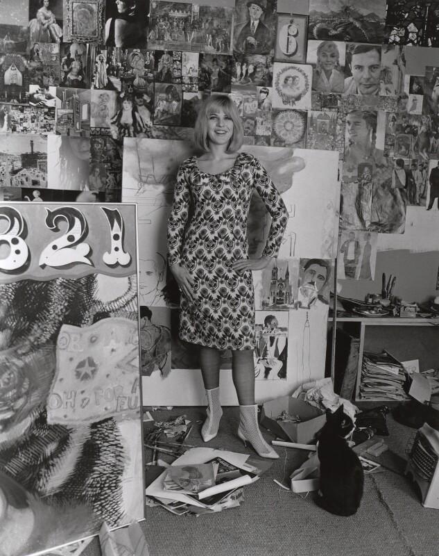 Pauline Boty, by Lewis Morley, September 1963 - NPG x76913 - © Lewis Morley Archive / National Portrait Gallery, London