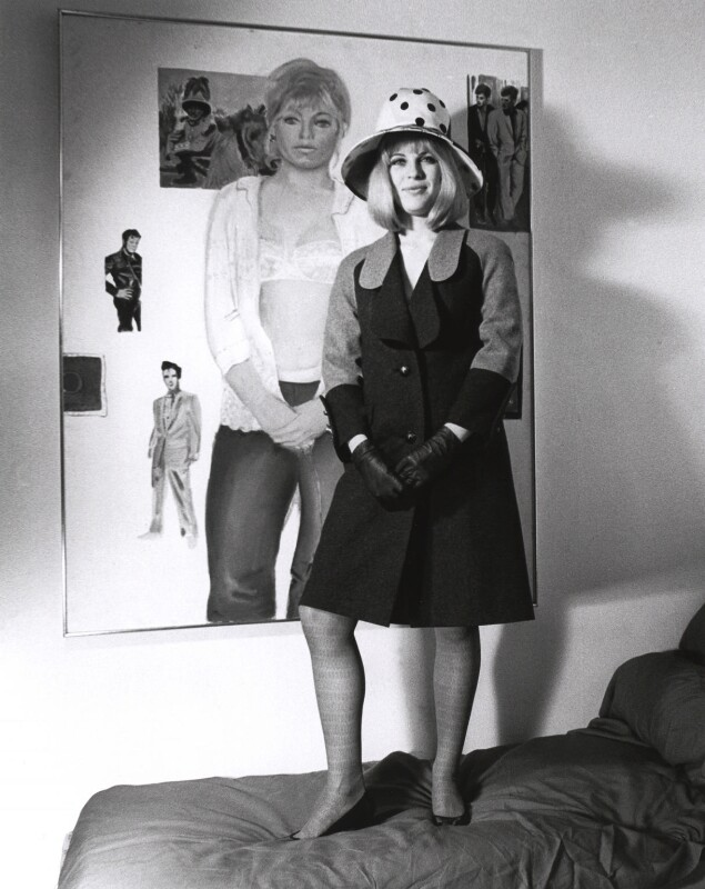 Pauline Boty, by Lewis Morley, September 1963 - NPG x76914 - © Lewis Morley Archive / National Portrait Gallery, London