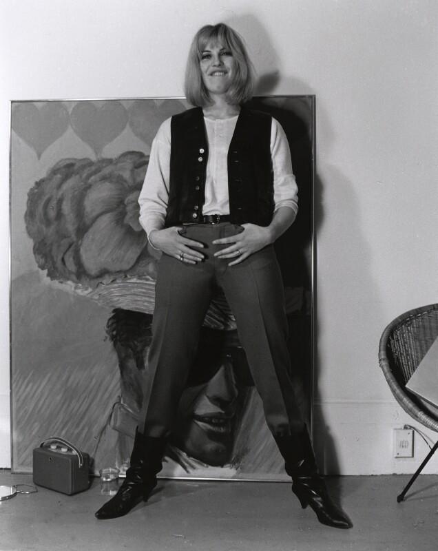 Pauline Boty, by Lewis Morley, 1963 - NPG x76915 - © Lewis Morley Archive