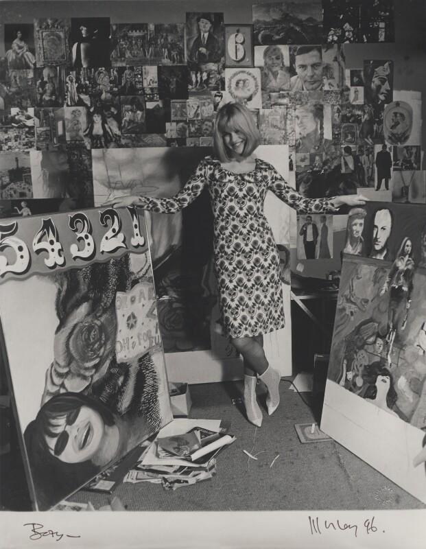 Pauline Boty, by Lewis Morley, September 1963 - NPG x76755 - © Lewis Morley Archive