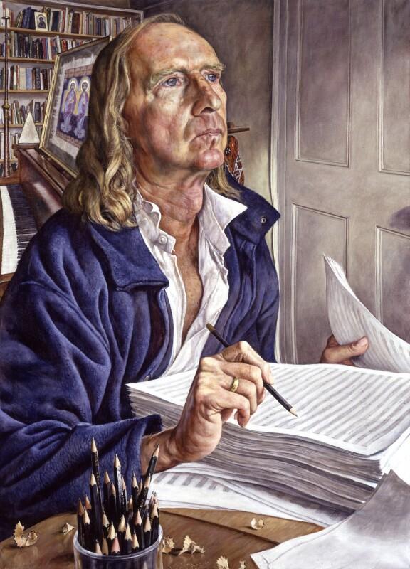 Sir John Kenneth Tavener, by Michael Taylor, 2001 - NPG 6607 - © National Portrait Gallery, London