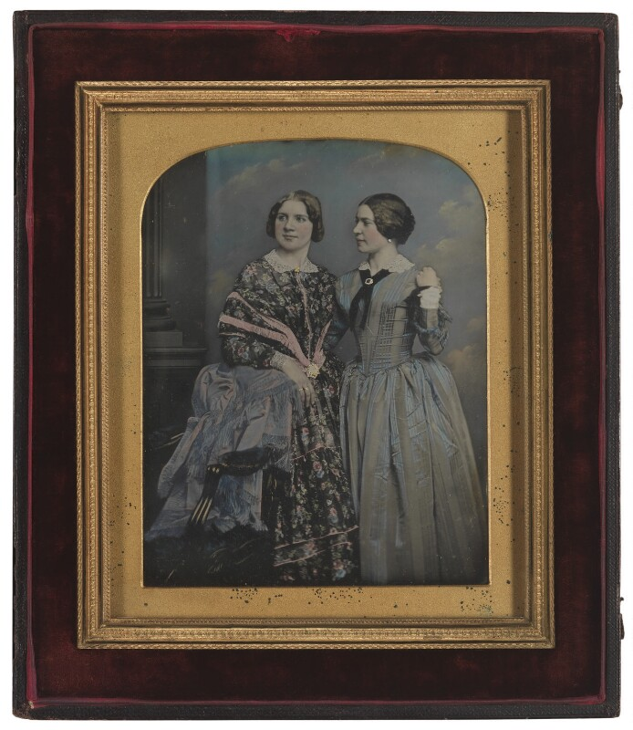 Jenny Lind; Marietta Alboni, Countess Pepoli (née Maria Anna Marzia), by William Edward Kilburn, 1848 - NPG P956 - © National Portrait Gallery, London