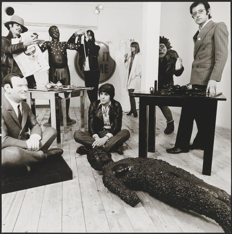 Robert Fraser Gallery group, by David Bailey, October 1968 - NPG P953 - © David Bailey