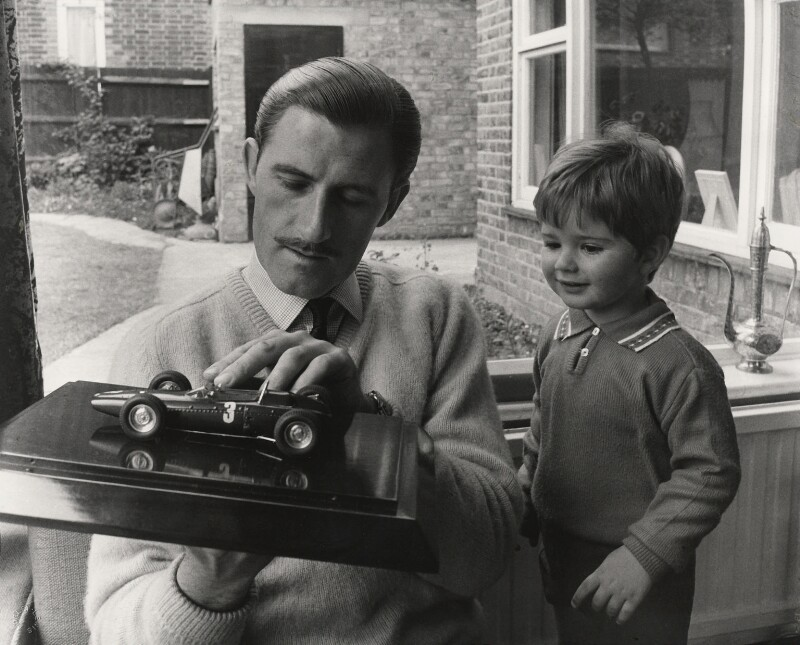 Graham Hill; Damon Hill, by Lewis Morley, 1963 - NPG x76129 - © Lewis Morley Archive