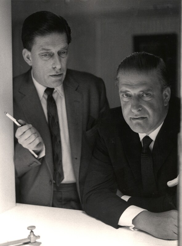 George Lascelles, 7th Earl of Harewood; Hon. Gerald David Lascelles, by Lewis Morley, 1964 - NPG x87105 - © Lewis Morley Archive / National Portrait Gallery, London