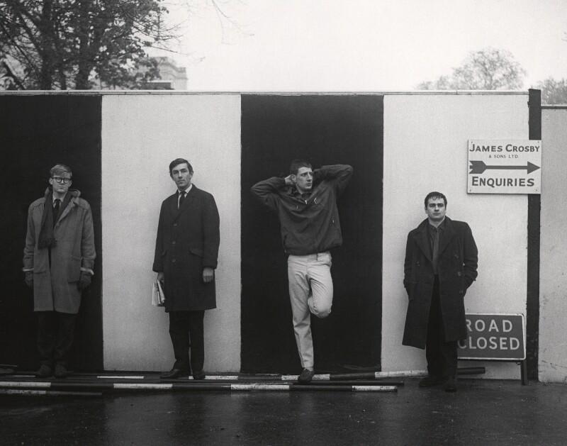 Beyond the Fringe (Alan Bennett; Peter Edward Cook; Jonathan Miller; Dudley Moore), by Lewis Morley, 1961 - NPG x44845 - © Lewis Morley Archive