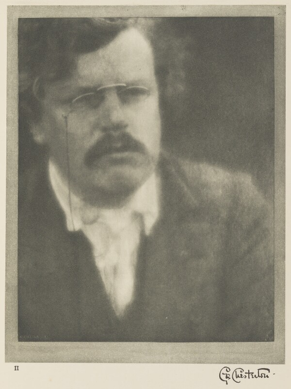 G.K. Chesterton, by Alvin Langdon Coburn, 12 August 1904 - NPG Ax7769 - © The Universal Order