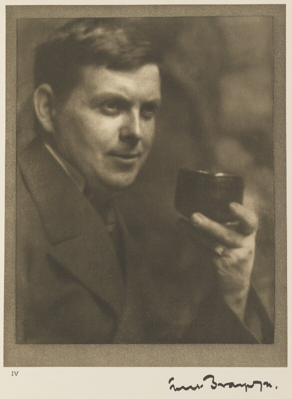 Sir Frank Brangwyn, by Alvin Langdon Coburn, 8 September 1904 - NPG Ax7771 - © The Universal Order