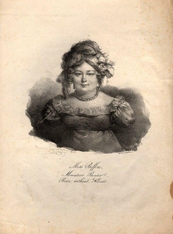 Sarah Biffin (Beffin), by Henri Grevedon, 1823 - NPG D11273 - © National Portrait Gallery, London