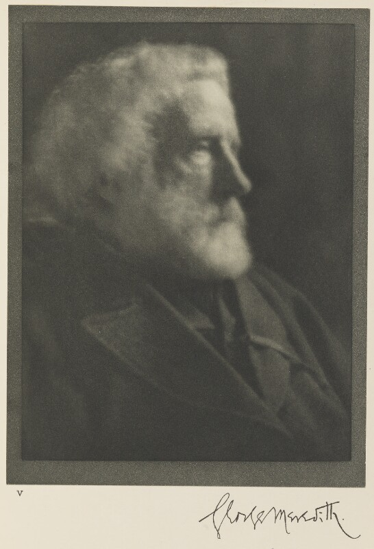 George Meredith, by Alvin Langdon Coburn, 24 October 1904 - NPG Ax7772 - © The Universal Order