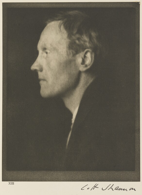 Charles Haslewood Shannon, by Alvin Langdon Coburn, 5 February 1907 - NPG Ax7780 - © The Universal Order