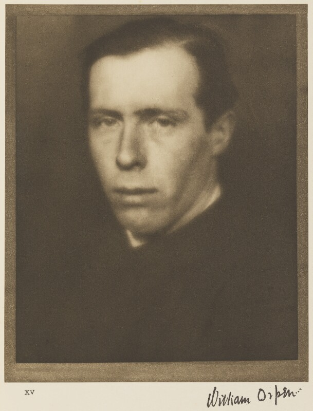 William Orpen, by Alvin Langdon Coburn, 14 January 1908 - NPG Ax7782 - © The Universal Order