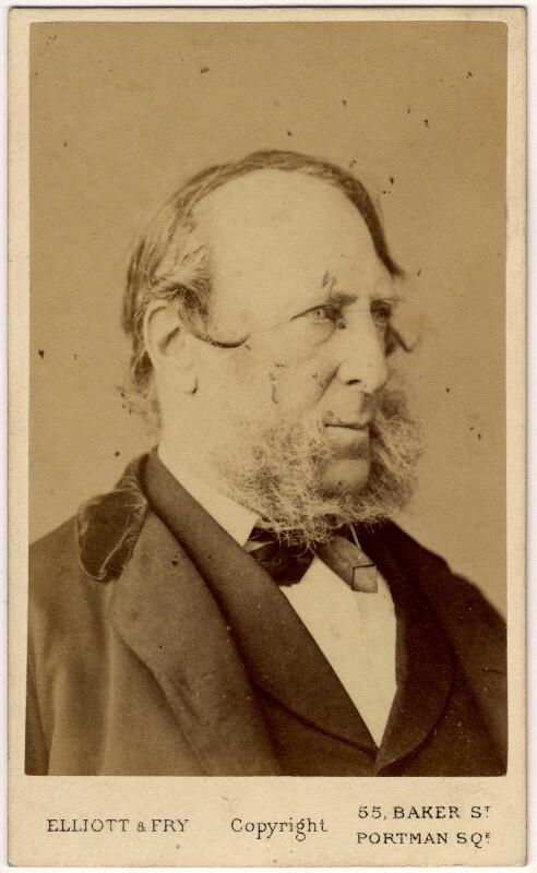 George Cruikshank, by Elliott & Fry, 1860s - NPG x7060 - © National Portrait Gallery, London