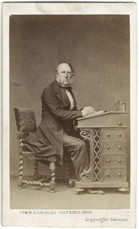 George Cruikshank, by John & Charles Watkins, 1860s - NPG Ax14924 - © National Portrait Gallery, London