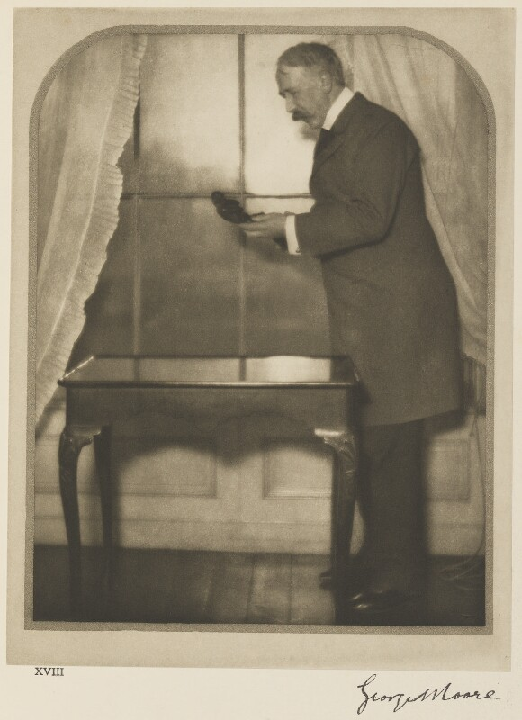 George Moore, by Alvin Langdon Coburn, 23 January 1908 - NPG Ax7785 - © The Universal Order