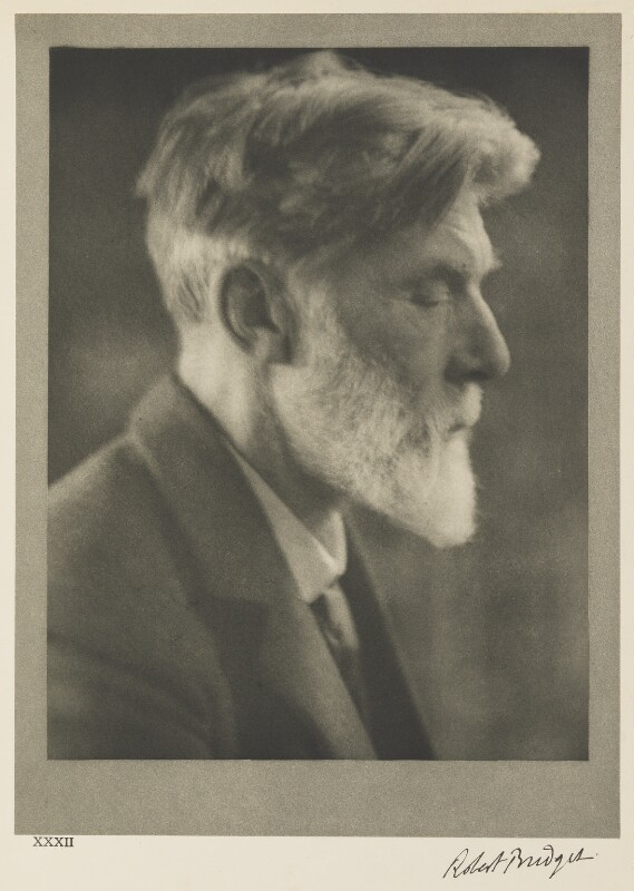 Robert Bridges, by Alvin Langdon Coburn, 11 April 1913 - NPG Ax7799 - © The Universal Order