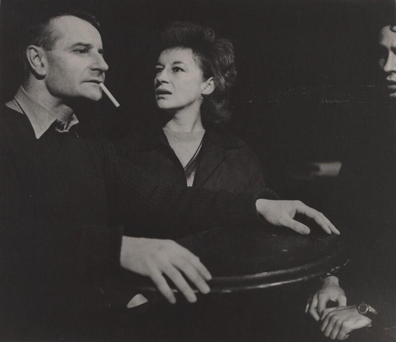 Lindsay Anderson; Zoe Caldwell, by Lewis Morley, 1960 - NPG x125153 - © Lewis Morley Archive