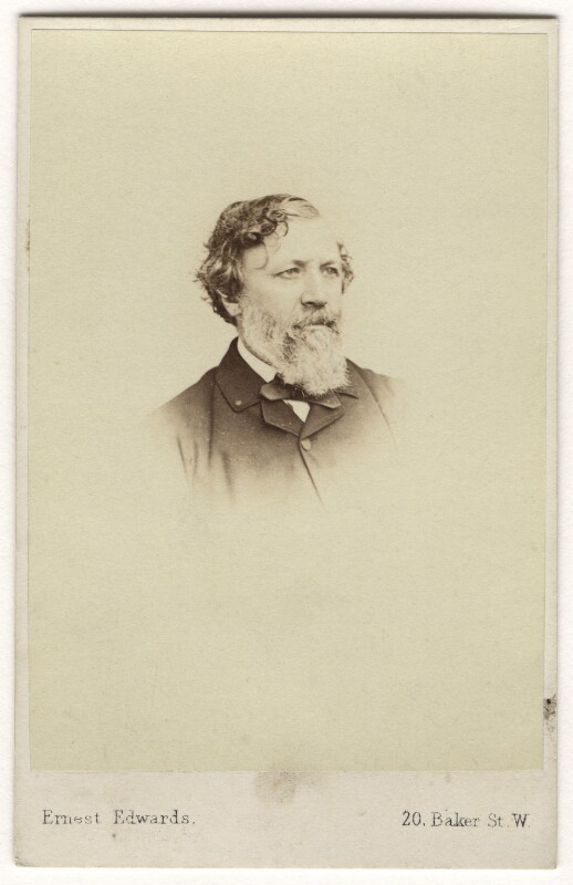 Robert Browning, by Ernest Edwards, circa 1863 - NPG Ax7521 - © National Portrait Gallery, London