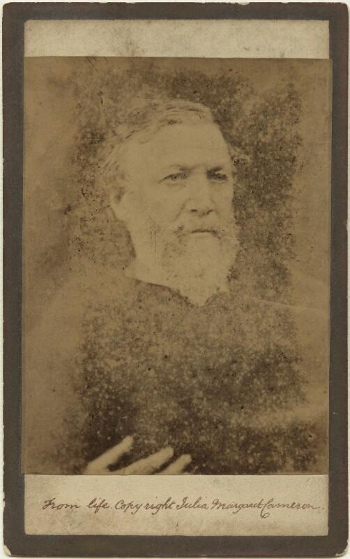 Robert Browning, by Julia Margaret Cameron, 1865 - NPG x18064 - © National Portrait Gallery, London
