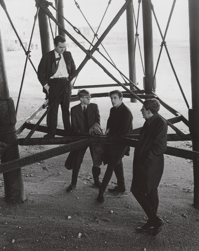 Beyond the Fringe (Dudley Moore; Alan Bennett; Peter Edward Cook; Jonathan Miller), by Lewis Morley, 1961 - NPG x125263 - © Lewis Morley Archive / National Portrait Gallery, London