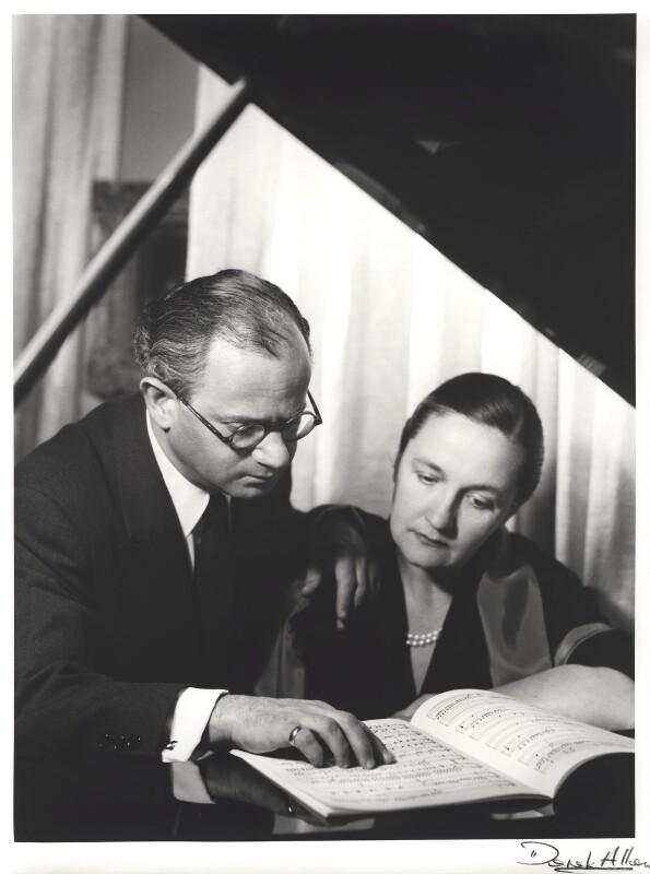 Alec Sherman; Gina Bachauer, by Derek Allen, 1955 - NPG x32798 - © Derek Allen / National Portrait Gallery, London