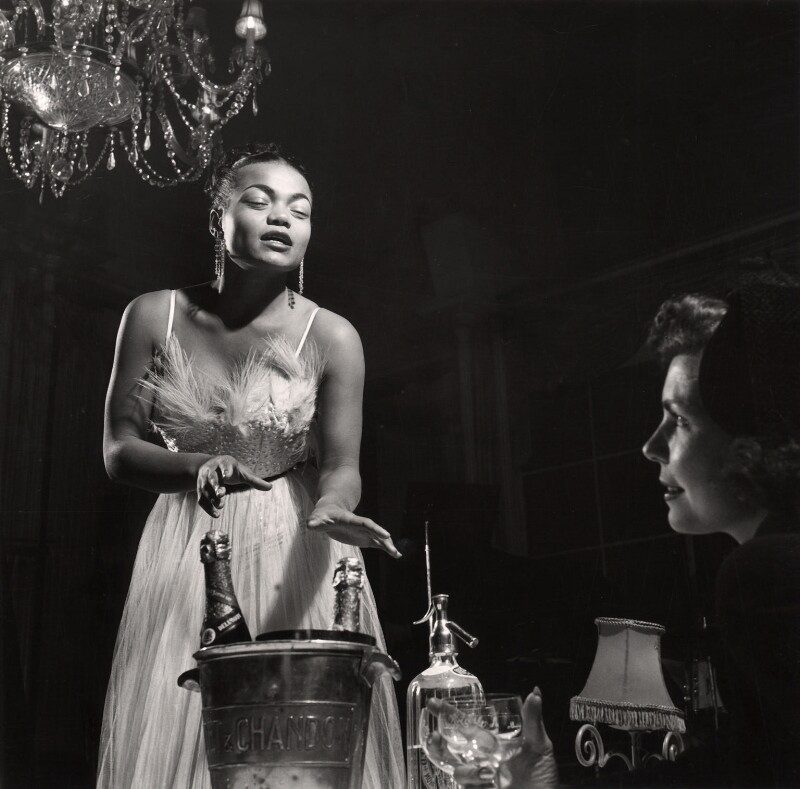 Eartha Kitt and an unknown woman, by (Edward) Russell Westwood, 1951 - NPG x35237 - © estate of Russell Westwood / National Portrait Gallery, London
