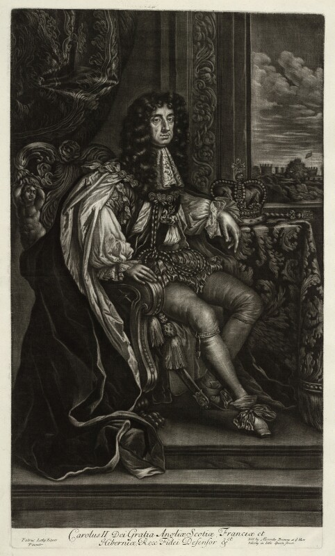 King Charles II, published by Alexander Browne, after  Sir Peter Lely, circa 1680-84 (circa 1671) - NPG D11401 - © National Portrait Gallery, London