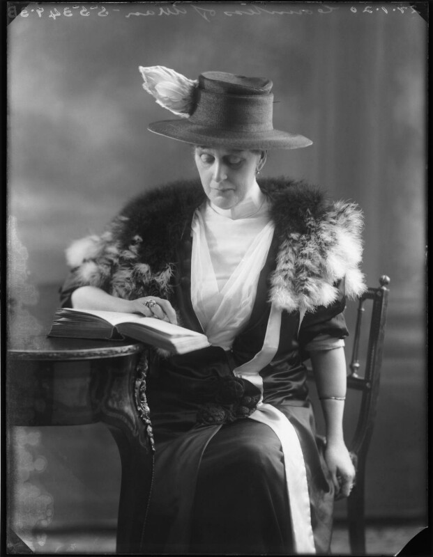 Winifred Ellen Gore (née Reilly), Countess of Arran, by Bassano Ltd, 27 January 1920 - NPG x120080 - © National Portrait Gallery, London