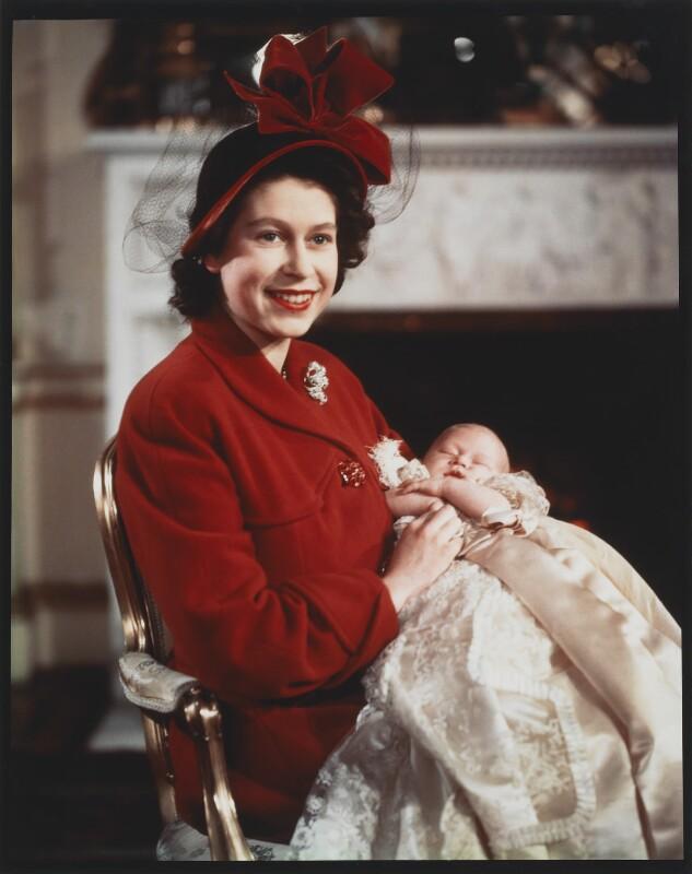 Queen Elizabeth II; Prince Charles, by Baron (Sterling Henry Nahum), 15 December 1948 - NPG x35386 - © Baron/Camera Press