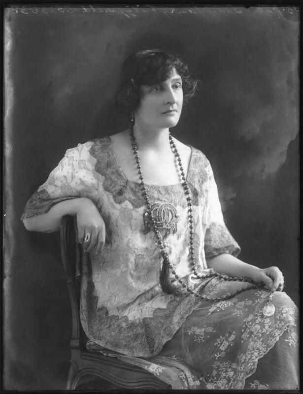 Lady Inez Charlotte Grace Fitzgerald (née Caseberd Botelier), by Bassano Ltd, 13 January 1920 - NPG x120029 - © National Portrait Gallery, London