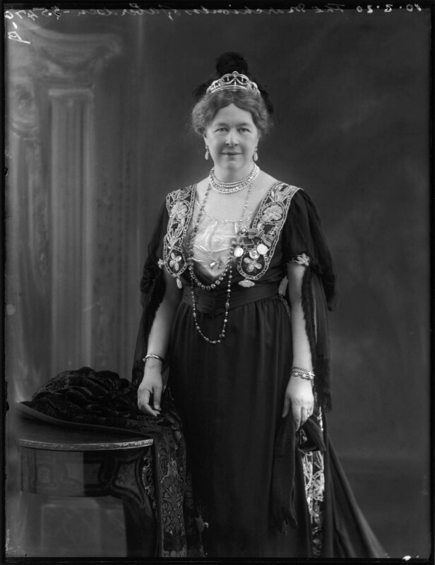 Dame Ishbel Maria (née Marjoribanks), Marchioness of Aberdeen and Temair, by Bassano Ltd, 10 February 1920 - NPG x120155 - © National Portrait Gallery, London