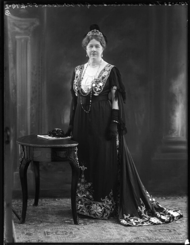 Dame Ishbel Maria (née Marjoribanks), Marchioness of Aberdeen and Temair, by Bassano Ltd, 10 February 1920 - NPG x120156 - © National Portrait Gallery, London