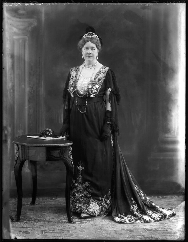 Dame Ishbel Maria (née Marjoribanks), Marchioness of Aberdeen and Temair, by Bassano Ltd, 10 February 1920 - NPG x120157 - © National Portrait Gallery, London