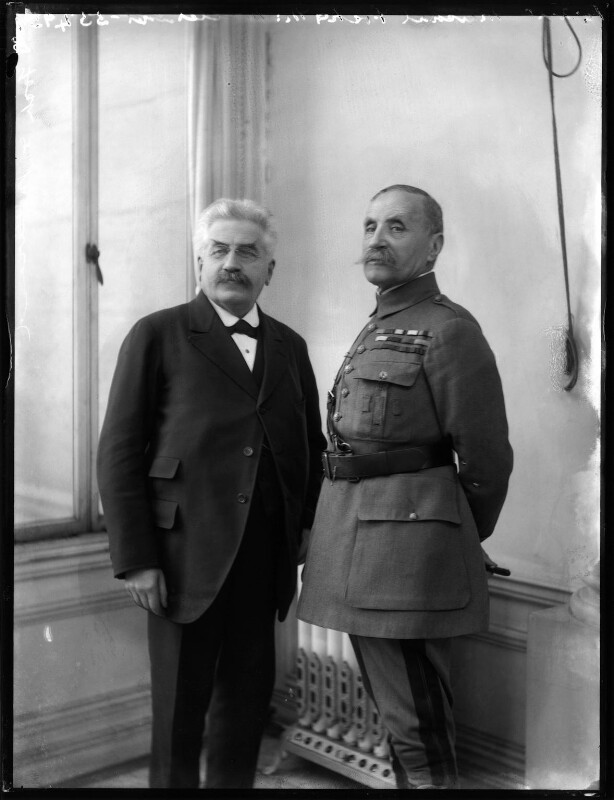 Alexandre Millerand; Ferdinand Foch, by Bassano Ltd, 12 February 1920 - NPG x120168 - © National Portrait Gallery, London
