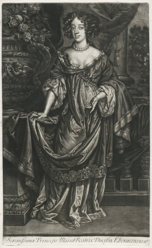 Mary of Modena, published by Alexander Browne, after  Sir Peter Lely, circa 1680-4 - NPG D11402 - © National Portrait Gallery, London