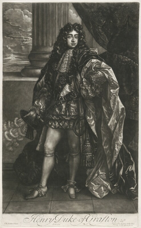 Henry Fitzroy, 1st Duke of Grafton, by Isaac Beckett, published by  Alexander Browne, after  Thomas Hawker, circa 1684 - NPG D11403 - © National Portrait Gallery, London