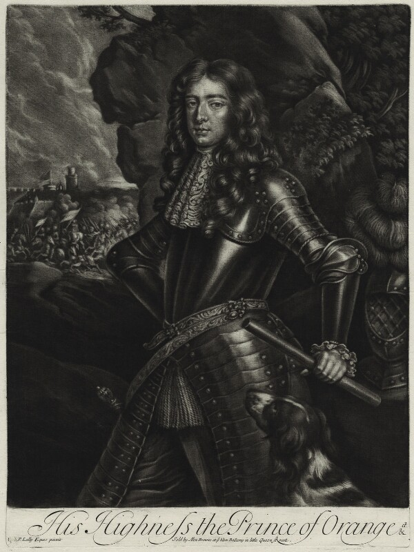 King William III, published by Alexander Browne, after  Sir Peter Lely, circa 1680-84 (circa 1677) - NPG D11412 - © National Portrait Gallery, London