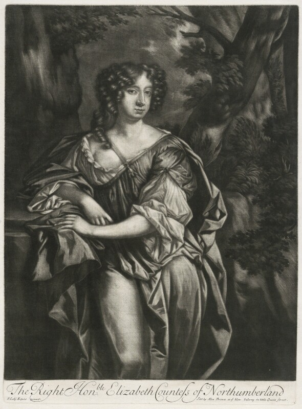 Elizabeth Montagu (née Wriothesley), Countess of Montagu when Countess of Northumberland, published by Alexander Browne, after  Sir Peter Lely, circa 1684 - NPG D11418 - © National Portrait Gallery, London