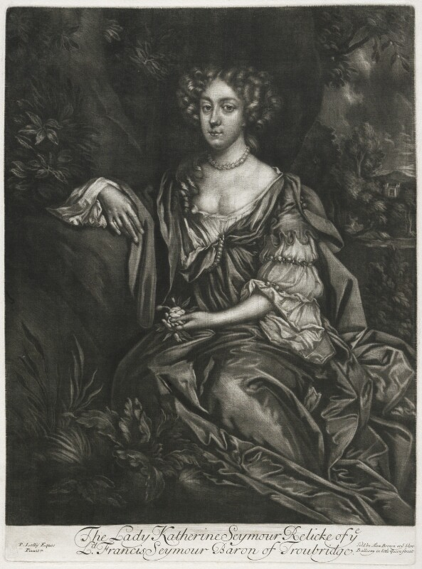 Katherine Seymour (née Lee), Lady Seymour, published by Alexander Browne, after  Sir Peter Lely, circa 1684 - NPG D11428 - © National Portrait Gallery, London