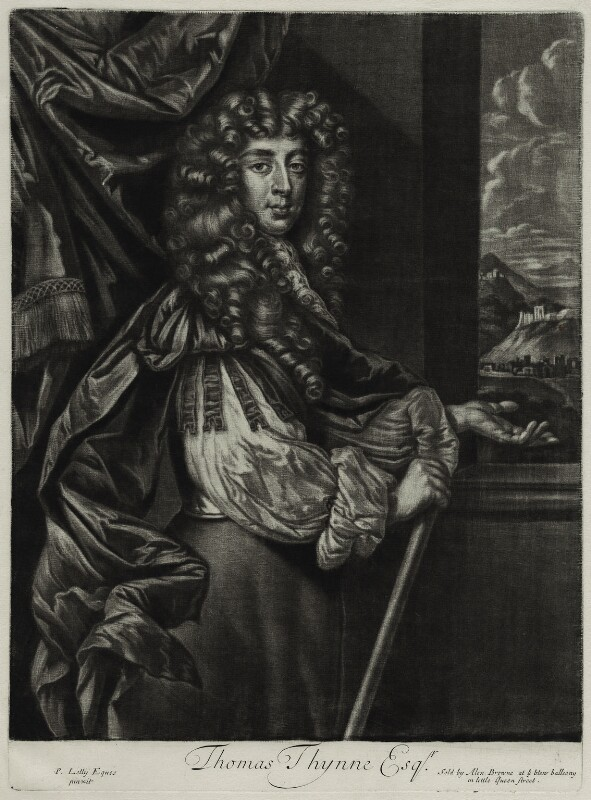 Thomas Thynne, published by Alexander Browne, after  Sir Peter Lely, circa 1684 - NPG D11437 - © National Portrait Gallery, London