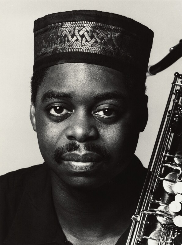 Courtney Pine, by Trevor Leighton, 27 September 1990 - NPG x35749 - © Trevor Leighton / National Portrait Gallery, London