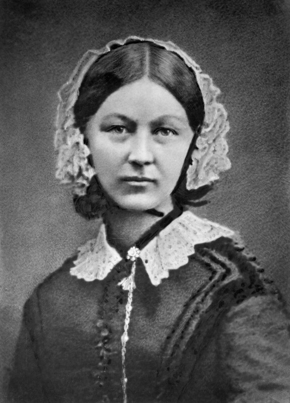 Florence Nightingale, by Henry Hering, copied by  Elliott & Fry, 1950s (late 1856-1857) - NPG x82368 - © National Portrait Gallery, London