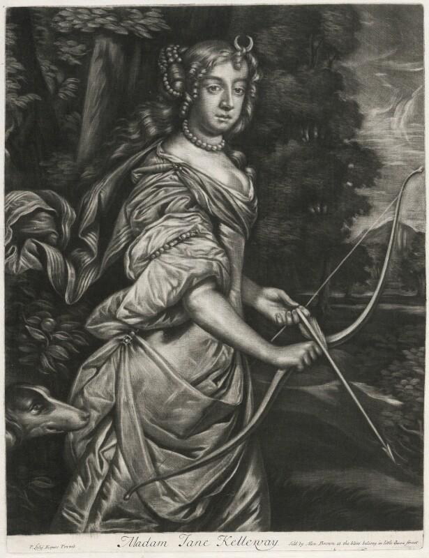 Jane Kelleway as Diana, published by Alexander Browne, after  Sir Peter Lely, circa 1684 - NPG D11444 - © National Portrait Gallery, London