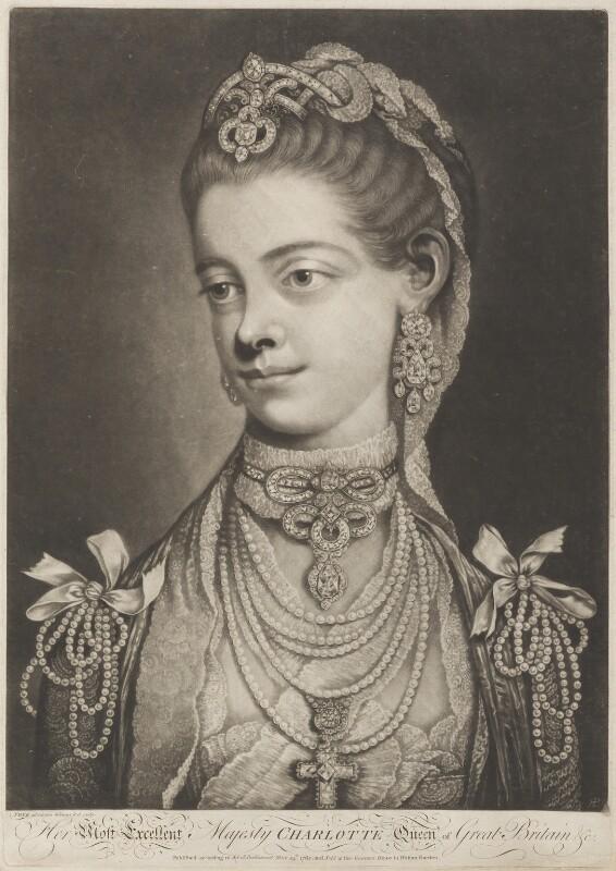 Sophia Charlotte of Mecklenburg-Strelitz, by Thomas Frye, published 24 May 1762 - NPG D11287 - © National Portrait Gallery, London