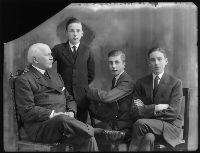 Rowland Allanson-Winn, 5th Baron Headley; John Allanson-Winn; Charles Allanson-Winn, 7th Baron Headley; Rowland Allanson-Winn, 6th Baron Headley, by Bassano Ltd, 8 April 1920 - NPG x120441 - © National Portrait Gallery, London