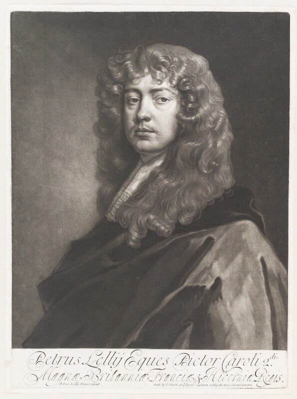 Sir Peter Lely, by Isaac Beckett, published by  John Smith, after  Sir Peter Lely, 1684-1688 - NPG D11494 - © National Portrait Gallery, London