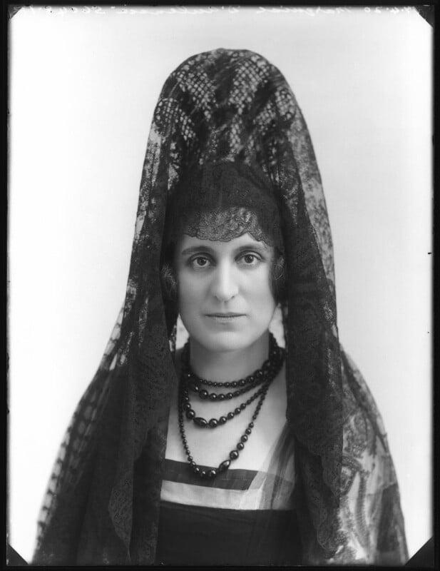 Fernanda Moreno de la Serna y Zuleta de Reales, Marquesa de Aulencia, by Bassano Ltd, 17 April 1920 - NPG x120474 - © National Portrait Gallery, London
